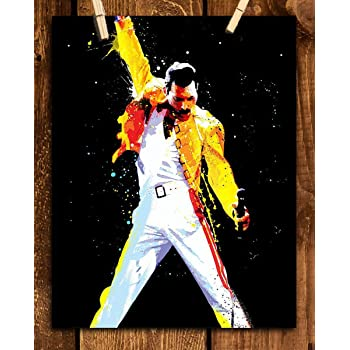 FREDDIE MERCURY SUPERBLY HAND-CRAFTED ICONIC QUEEN CANVAS PRINT FREE UPGRADE