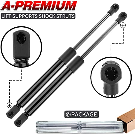 A-Premium Rear Tailgate Lift Supports Shock Struts Compatible with Chrysler 200 2011-2014 Sebring 2010 Not Fit Convertible 2-PC Set