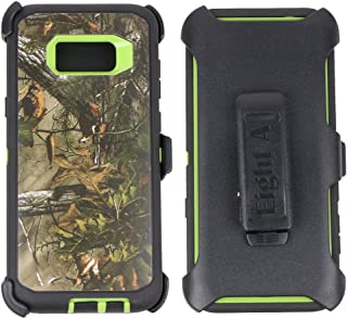 Samsung Galaxy S8+ Case-Heavy Duty Full Body Protective Rugged Holster w/ Belt Clip,Shock Resistant Case Cover for Galaxy S8 Plus (Green-Tree-Camo)