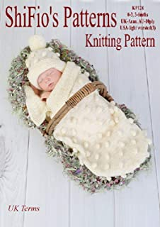 Knitting Pattern - KP128 - Baby papoose Cocoon Sizes: 0-3mths  3-6mths - UK Terminology