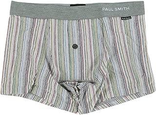 【Paul Smith】ポールスミス マルチストライプ 1ボタン ローライズ ボクサーパンツ(TRUNK) チャコール