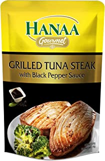 Hanaa Tuna Steak Grilled with Black Pepper Sauce, 120g - Pack of 1