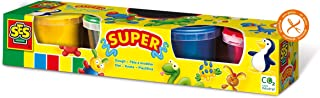 SES Creative Mixed Colours,Play Dough, Non Toxic Modeling Compound,Resealable Package set,Arts and Crafts set, 4x90gr colo...