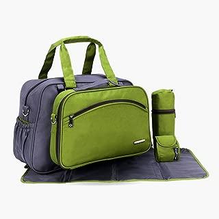 My Milestones Duo Detach 2-in-1 Baby Diaper Bag/Mothers Bag - Grey/Green