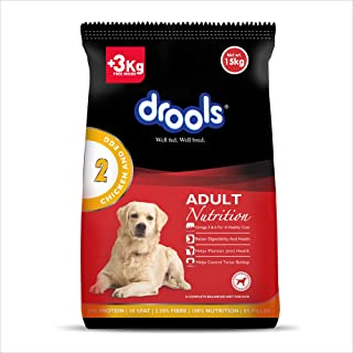 Drools Chicken and Egg Adult Dog Food, 18kg (15kg + 3kg Free Inside)