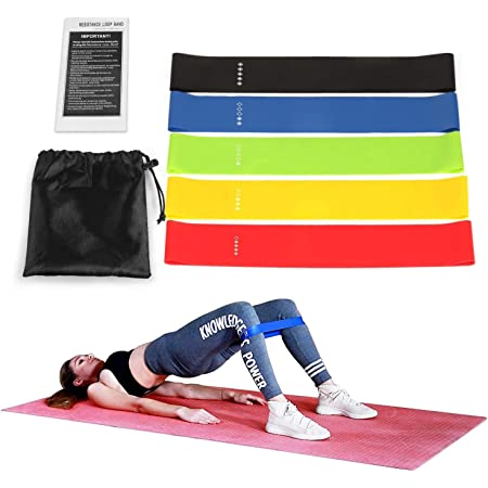 DE|Fitnessbänder Sport Fitnessband Widerstandsband Gummiband Gymnastikband 5 Stk