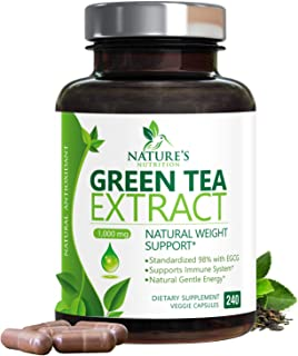 Sponsored Ad - Green Tea Extract 98% Standardized Egcg for Healthy Weight Support 1000mg - Supports Healthy Heart, Metabol...