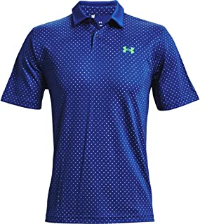 Under Armour Mens 2021 Performance 4-Way Stretch Wicking Printed Golf Polo Shirt