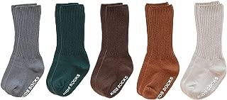 VWU Baby Crew Socks with Grips Unisex Toddler Infant Cotton tube Socks 0-5 Years