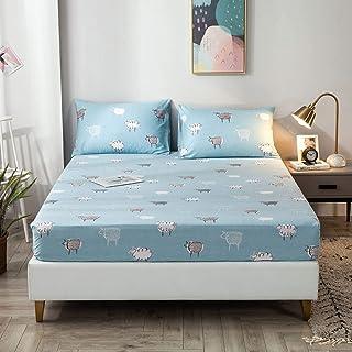 Premium Quality Plain Fitted Sheet, Soft & Cosy Fleece Bed Linen, Bedding, Kingsize Bedsheet,120x200+30cm