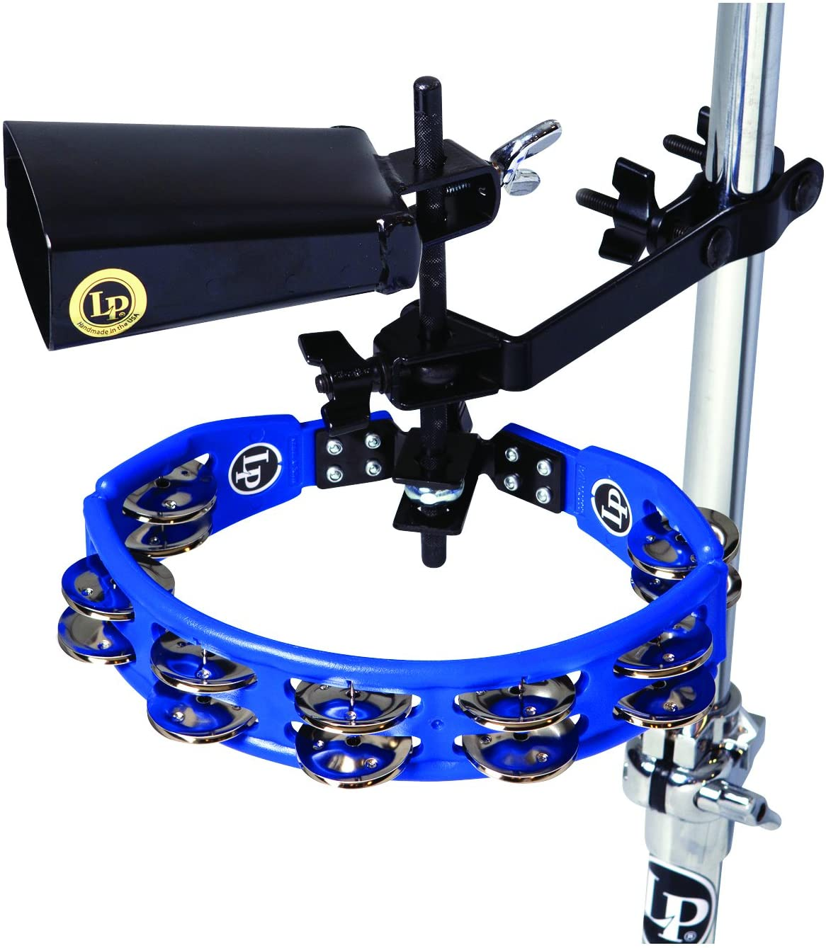 Latin Percussion LP160NY-K Finally Recommendation resale start Tambourine and Mount Cowbell with Kit