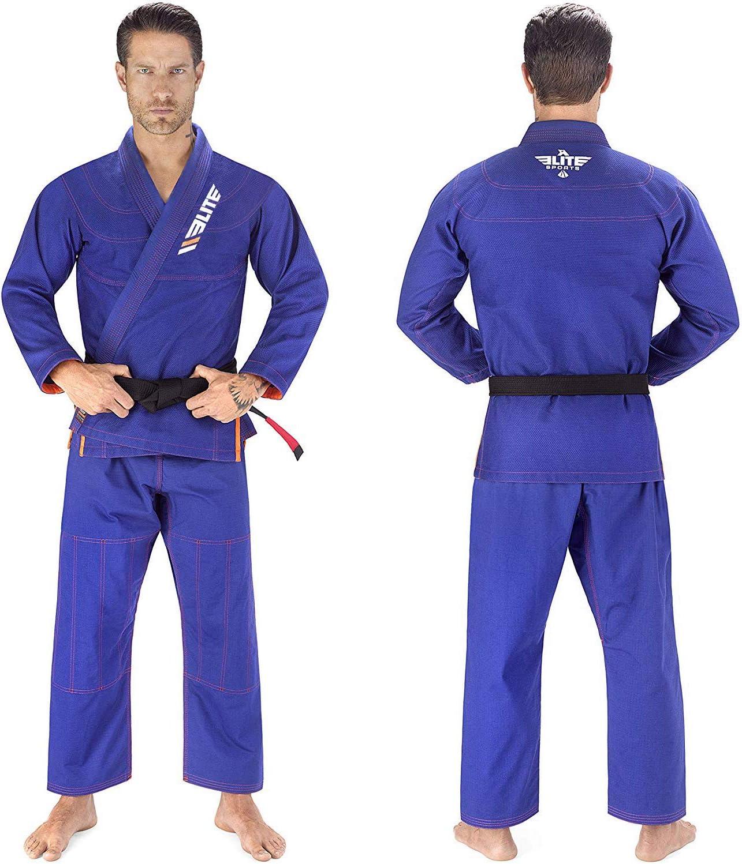 Elite Sports BJJ GI for Men IBJJF Kimono BJJ Jiujitsu GIS W//Preshrunk Fabric /& Free Belt See Special Sizing Guide