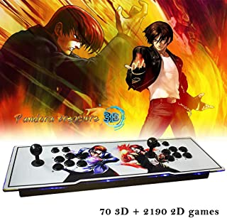 ElementDigital Arcade Game Console 1080P 3D & 2D Games 2260 in 1 Pandora's Box 70 3D Games 2 Players Arcade Machine with Arcade Joystick Support Expand 6000+ Games for PC / Laptop / TV / PS4