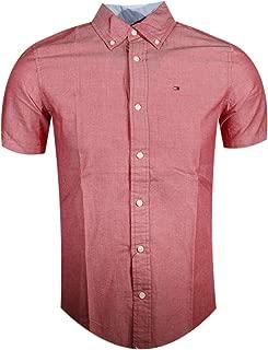 Mens Custom Fit Short Sleeve Button Down Shirt