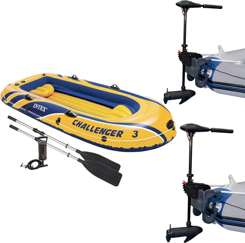 Intex Challenger 3 Inflatable Raft Boat Eight Trol Set Speed 2 mart sale
