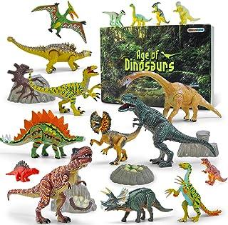 GizmoVine Dinosaures Jouets Ensemble Éducatif Réaliste Dinosaure Jouet Animaux Figurines Cadeaux d'anniversaire pour Enfan...