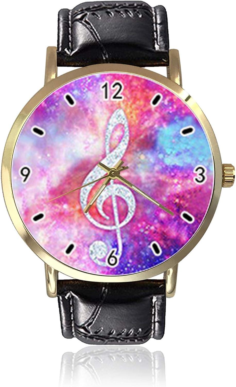 Piano - Reloj de pulsera unisex para hombre, de piel, estilo informal, de cuarzo, para mujer