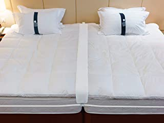 Twin to King Bed Bridge - Converter Kit for Twin Beds - Gap Filler Pad with Strap - Quickly Create King Size Bed - Mattres...