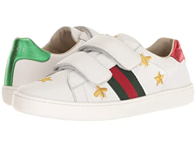Gucci Kids New Ace V.L. Sneakers (Little Kid/Big Kid) (Soft Sand) Boy