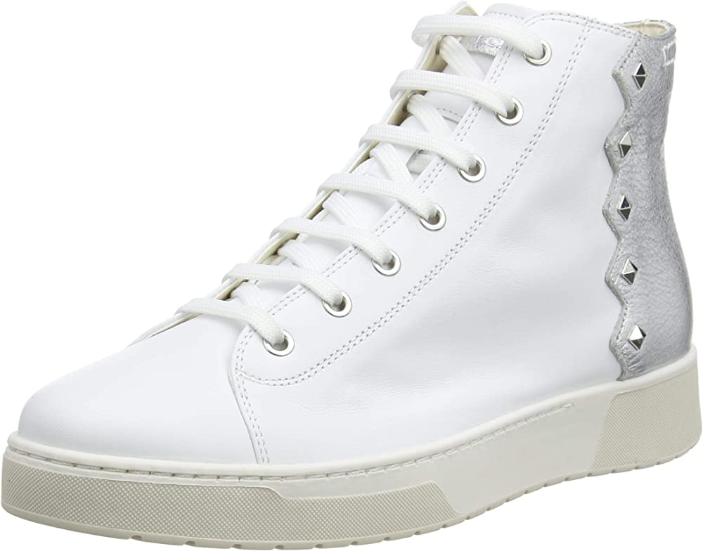 Geox d kapha b scarpe da ginnastica sneakers alte da donna in pelle e borchie D15DAB085CF1