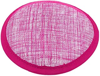 MOPOLIS Sinamay Millinery Formal Hat Base Fascinator Round Making DIY Craft Supplies   Colors - Rosy Red