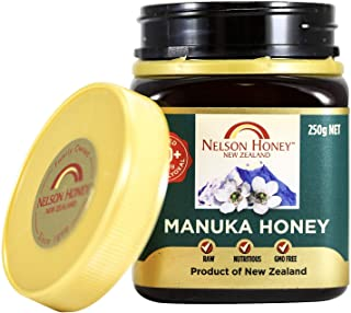 Nelson Honey Natural Manuka Honey, 200+MG Factor, 250g (.55lbs), Genuine New Zealand non-GMO - BPA Free Jar - 100% guarant...