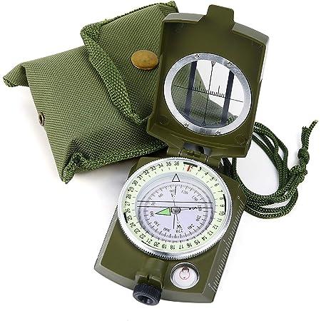 Jessicadaphne Taschen Mini Camping Wandern Kompasse Leichte Aluminium Outdoor Reise Kompasse Navigation Wild Survival Tool Schwarz