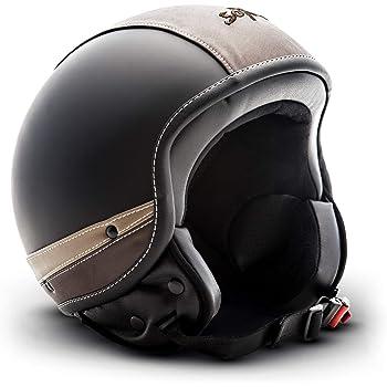 Taglia Unica SOXON SG-301 Night Occhiali Jet Ski Goggles Biker Vintage Sport Oldtimer Vespa Cruiser Casco Moto Scooter Piloto Nero//Nero Design in Pelle