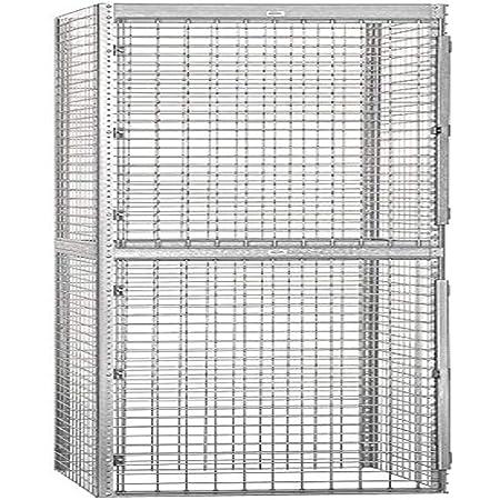 Salsbury Industries Bulk Storage Locker Double Tier Starter, 36-Inch, 36-Inch