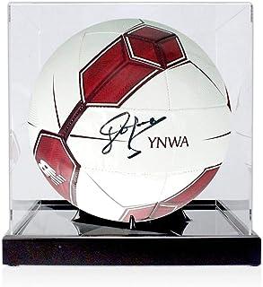 John Barnes Signed Liverpool Football In Display Case | Autographed Memorabilia