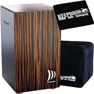 Schlagwerk CP-432 Deluxe Makassar - Cajón de percusión (incluye almohadilla CP-01 y funda)