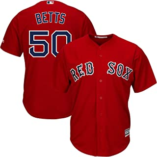 Mookie Betts Boston Red Sox MLB Majestic Youth 8-20 Red Alternate Cool Base Replica Jersey