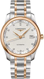 Elegant Silver Diamond Dial Steel and Pink Gold Mens Watch L27935777