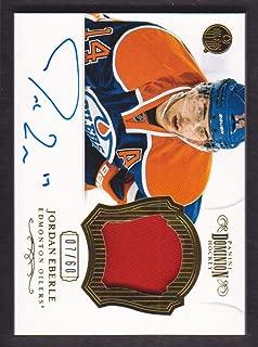 2012-13 Dominion Patch Autograph #80 Jordan Eberle Auto 07/60 Edmonton Oilers