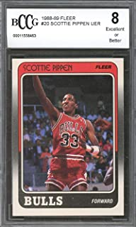 1988-89 fleer #20 SCOTTIE PIPPEN chicago bulls rookie card BGS BCCG 8 Graded Card