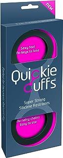Quickie Cuffs Super stabiele siliconen handboeien, maat: medium (binnendiameter: 5,3 cm), zwart