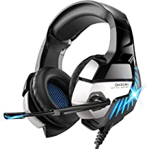 Best Gaming Headset for PS4, PS5, Xbox One, PC Headphones with Microphone LED Light Mic for Nintendo Switch Playstation Computer, K5 pro (Black&Blue) Review