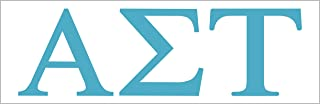 Pro-Graphx Alpha Sigma Tau Sticker Greek Sorority Decal for Car, Laptop, Windows, Officially Licensed Product, Girls Colle...