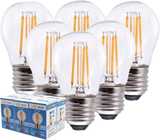 comprar comparacion Etrogo Bombillas Filamento LED E27 G45, 4W equivalente a 40W, 470 lúmenes, Luces Blanco Cálido 2700K, No Regulable-6 Unidades