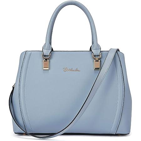 BOSTANTEN Damen Leder Handtasche Schultertasche Umhängetasche Elegante Henkeltasche Tote Bag Blau