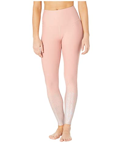 Beyond Yoga Alloy Ombre High Waisted Midi Leggings (Tinted Rose Holographic Speckle) Women