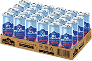 Ice Mountain Sparkling Water Grapefruit, 325 ml (Pack of 24)