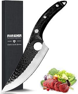 Couteau de Cuisine Forgé à la main, Couteaux Cuisine, Couteau Japonais, Couteau à découper - en acier inoxydable allemand ...