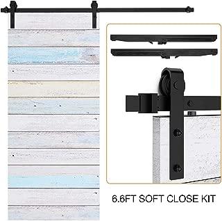 """EaseLife 6.6 FT Soft Close Sliding Barn Door Hardware Track Kit,Fit 36""""~40"""" Wide Door"""