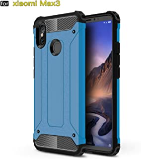 Case for Xiaomi Y2(Indian) Case, Rugged Tough Dual Layer Armor Case Xiaomi Y2(Indian) Heavy Duty Shockproof Hard Case Cover for Xiaomi Y2(Indian) + 2 Pieces Screen Protector (Blue)