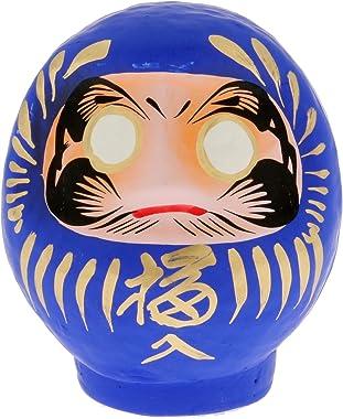 Kotobuki Achievement Daruma Collectible Figurine, Small, Blue