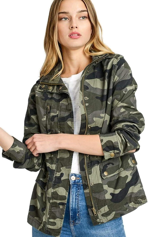 Women's Lightweight Long Sleeve Army Camouflage Jacket