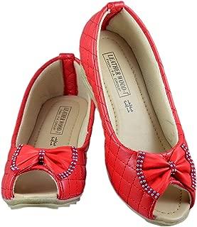 Leatherwood 1 Red Peeptoe Wedges for Girls
