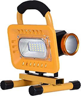 LED Floodlights Home 20W 50W Cordless Rechargeable Work Flood Lights Battery 6000 mAh 5 Brightness Modes Outdoor IP65 Wate...