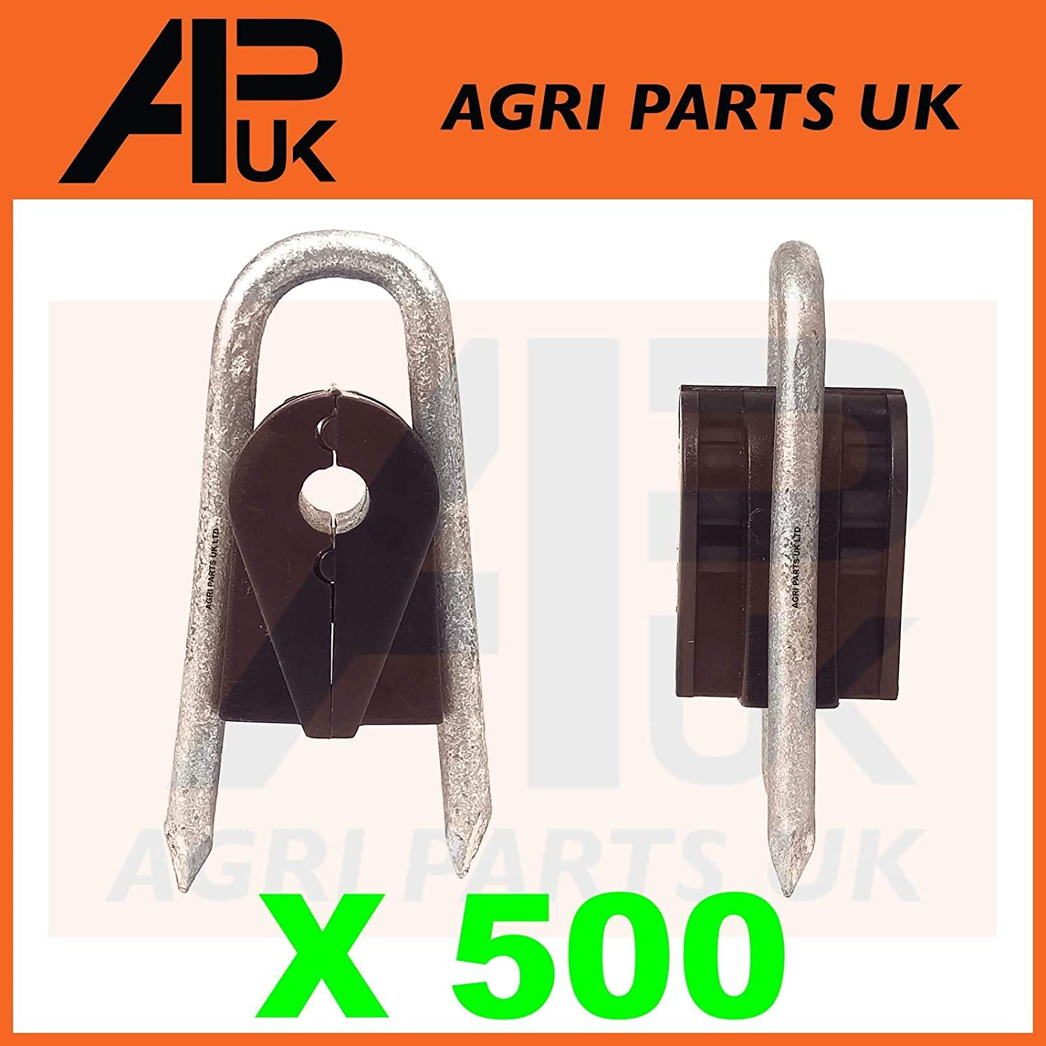 APUK 500 Electric Fence Staple on Insulators Poly Wire Rope tape Wood Post Galvanised
